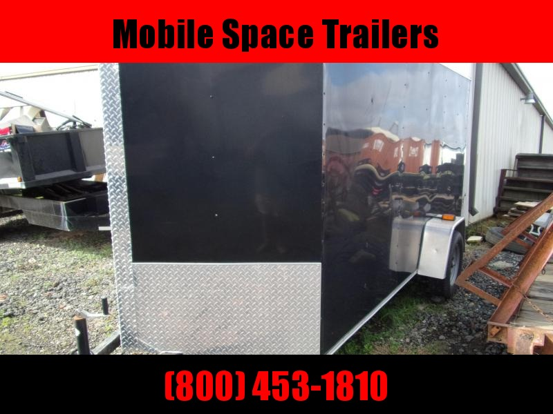 2017 Covered Wagon Trailers 6X12 Black Silver Series Used Enclosed Cargo Trailer
