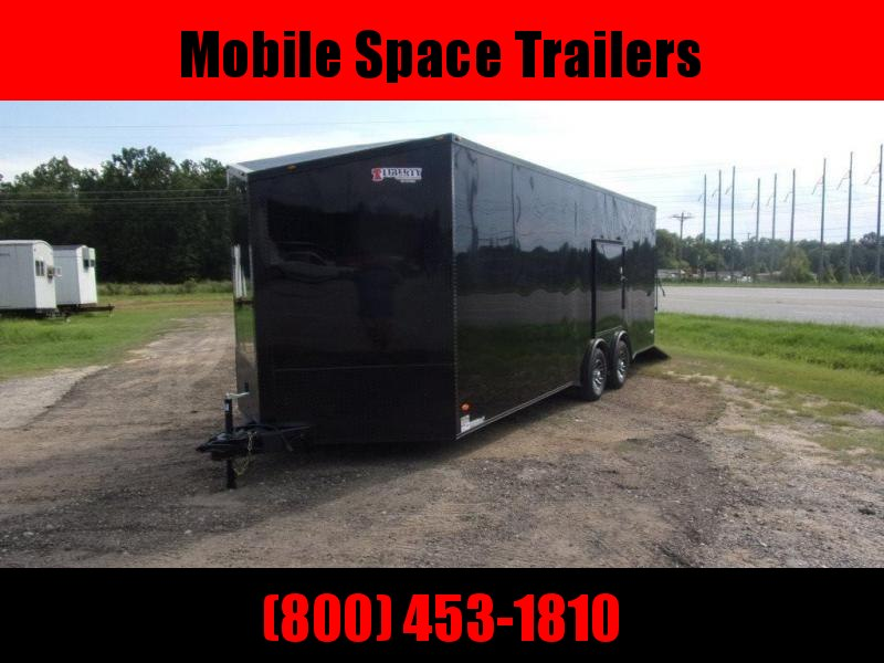 8.5X24 030 V-Nose Blackout Sceww-less Carhauler Car / Racing Trailer