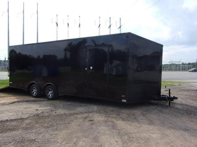 8.5X24 030 V-Nose Blackout Sceww-less Carhauler Car / Racing Trailer