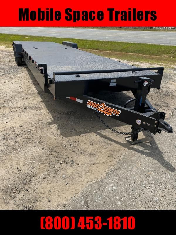 "Down To Earth 34 2 Car Hauler 10"" Channel  Steel deck"