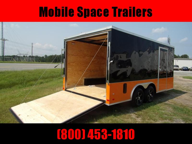 Covered Wagon Trailers 8.5x16 MCP Bk&Or ramp door Enclosed Cargo Trailer