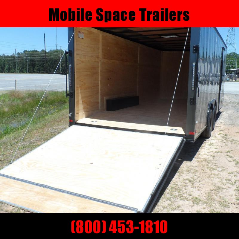 Covered Wagon Trailers 8.5x24 Charcoal  Black out ramp door Enclosed Cargo