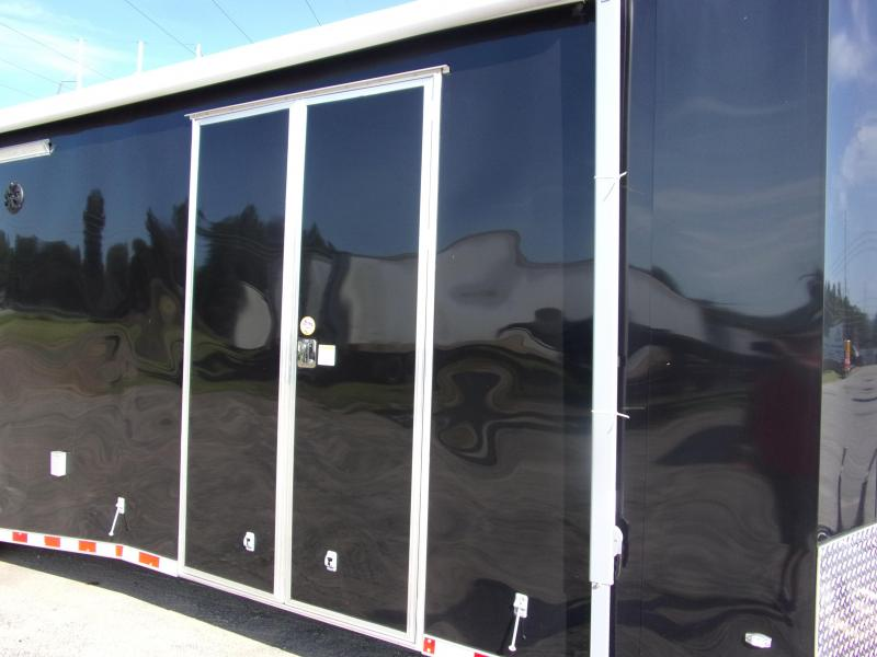 Covered Wagon Trailers 8.5x28 Torsion axles ramp door Enclosed Cargo