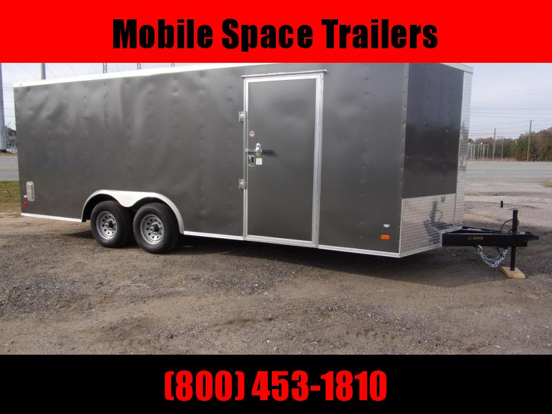 2020 Covered Wagon Trailers 8.5X20 Charcoal Car Hauler Enclosed Cargo Trailer