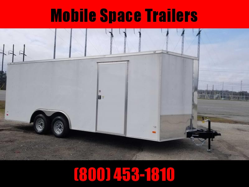 2020 Covered Wagon Trailers 8.5X20 white Car Hauler Enclosed Cargo Trailer