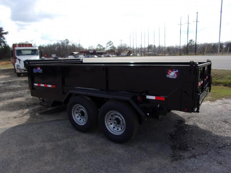 2019 Hawke 7x14 24 high side 14k Low Pro Dump Trailer w Tarp
