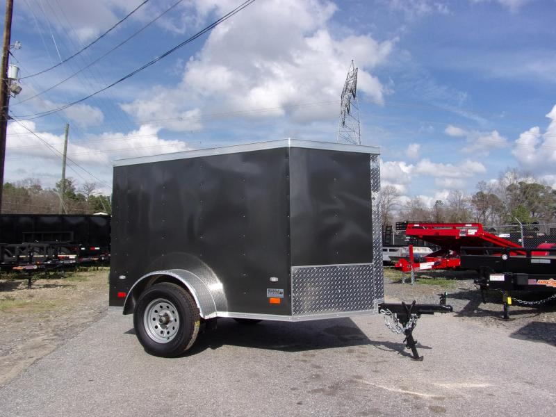 2019 Covered Wagon Trailers 4x6 swing door Enclosed Cargo Trailer