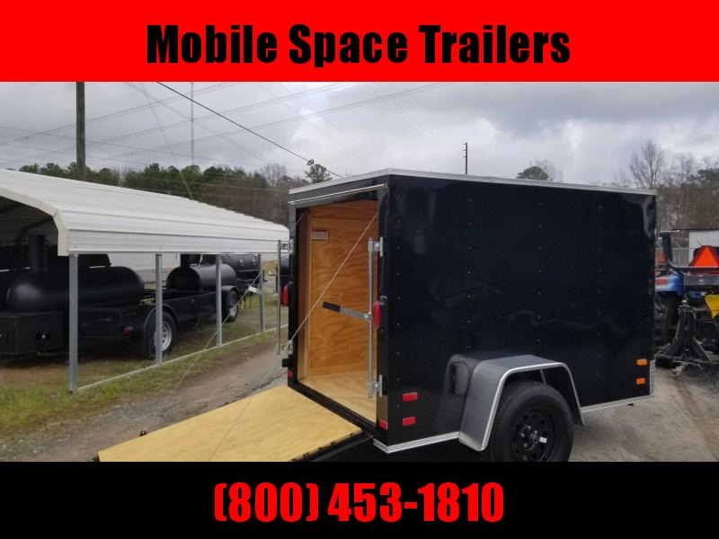 Covered Wagon Trailers 5x8 ramp door Enclosed Cargo Trailer