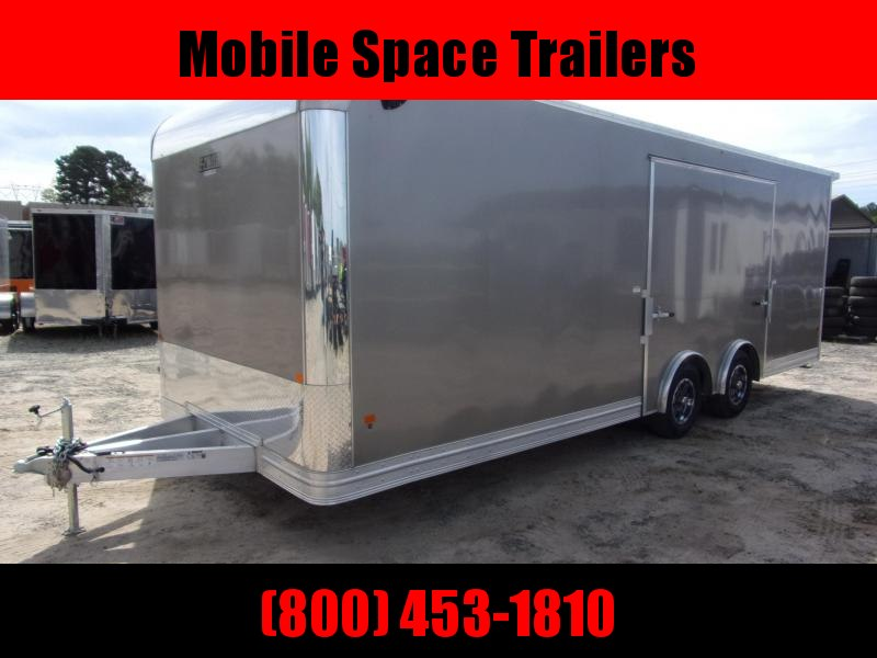 Mission 8.5x24 car hauler spread axle ramp door Elite Ecsape door