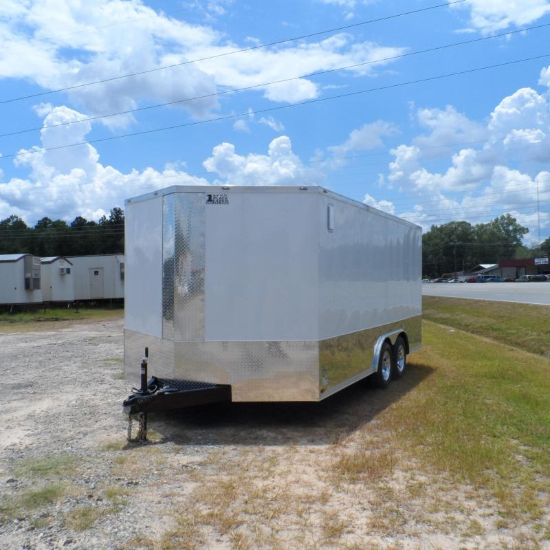 Covered Wagon Trailers 8.5x16 MCP White ramp door Enclosed Cargo Trailer