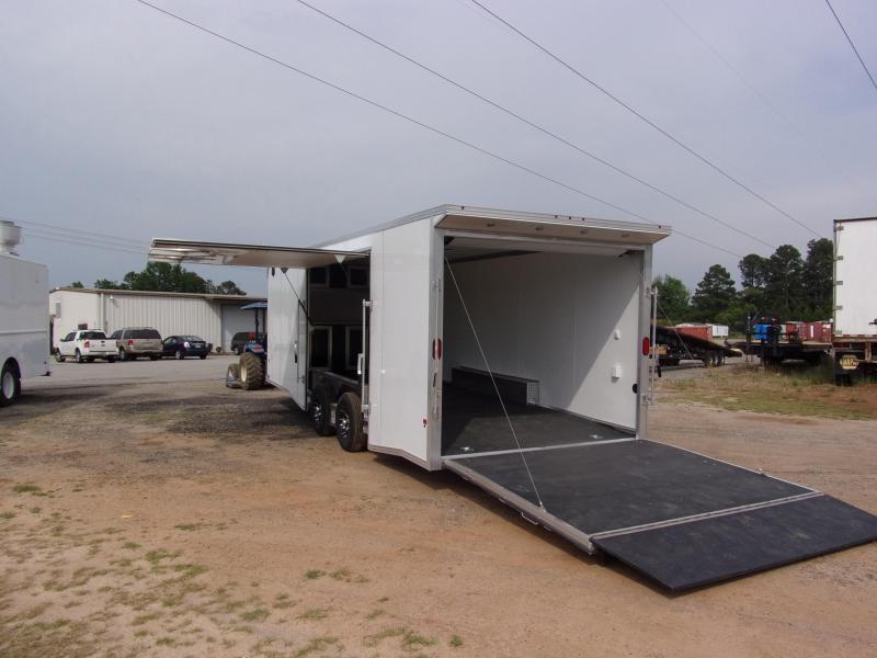 2019 Mission 8.5x24 Wh spread axle ramp door Elite Ecsape door Enclosed Cargo Trailer