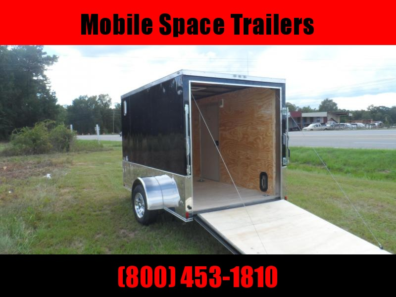 Liberty Cargo 6x10 MCP ramp door Black Enclosed Cargo Trailer