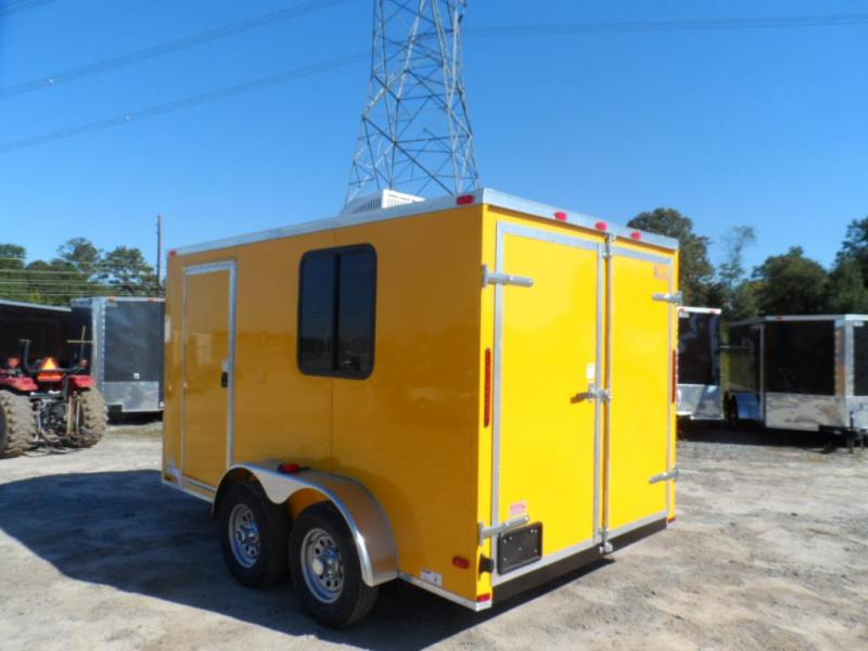 2019 Covered Wagon Trailers 7x12 TA 7' 3x6 Window Yellow Vending Enclosed Cargo Concesion