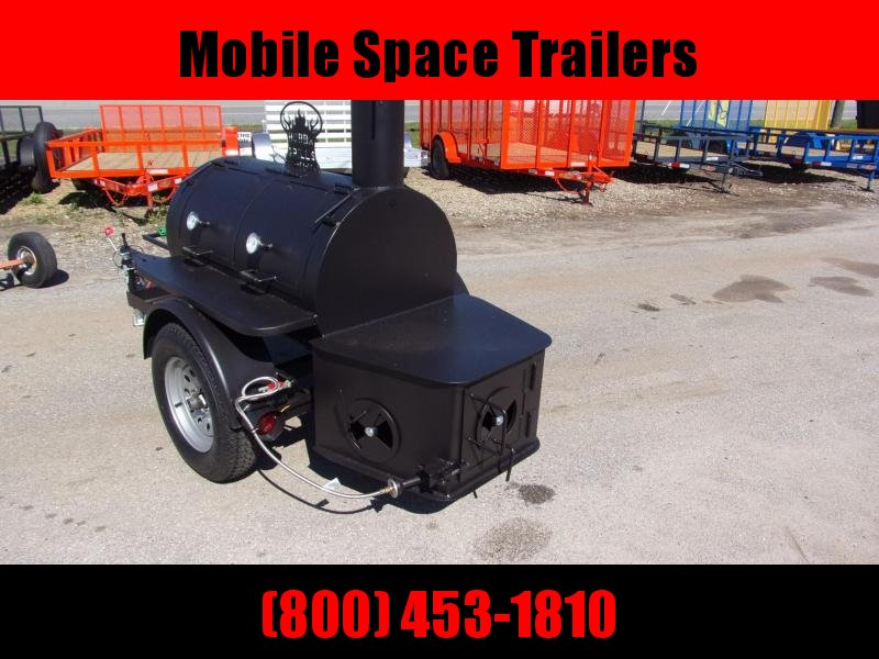2019 Bubba Grill Smoker 175R38 Reverse Flow Vending / Concession Trailer