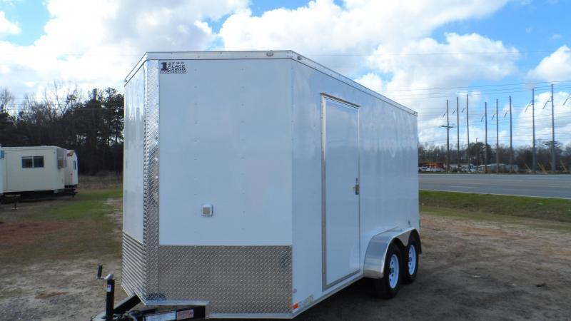 2019 Covered Wagon Trailers 7x14 7' 3x6 Window Yellow Vending Enclosed Cargo Concesion