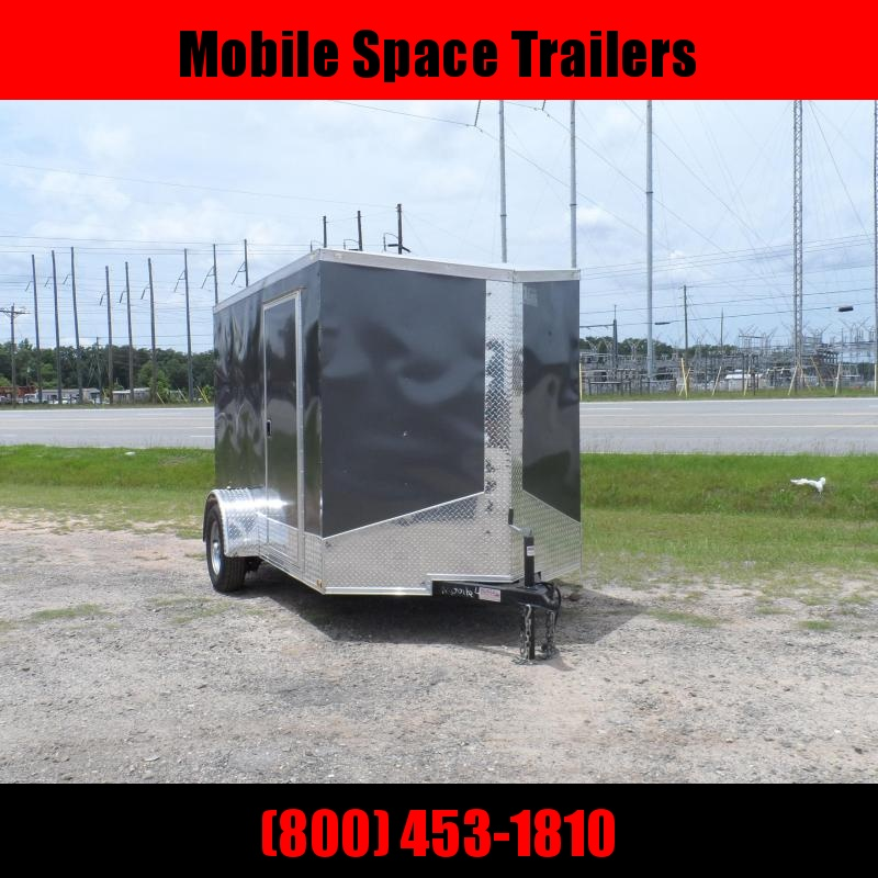 2019 Quality Cargo 6x10 Quest ramp door Gray Enclosed Cargo Trailer