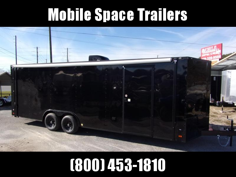 2020 Covered Wagon Trailers 8.5X24 030 V-Nose Blackout Finished Int Carhauler Car / Racing Trailer