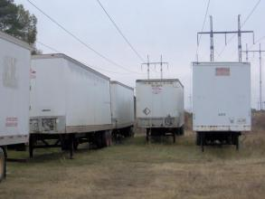 """48' long x 102"""" wide Semi Trailer - Great for Storage"""