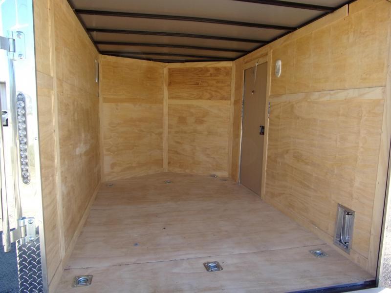 Liberty Cargo 7x10 MCP ramp door  Gray Enclosed Cargo Trailer