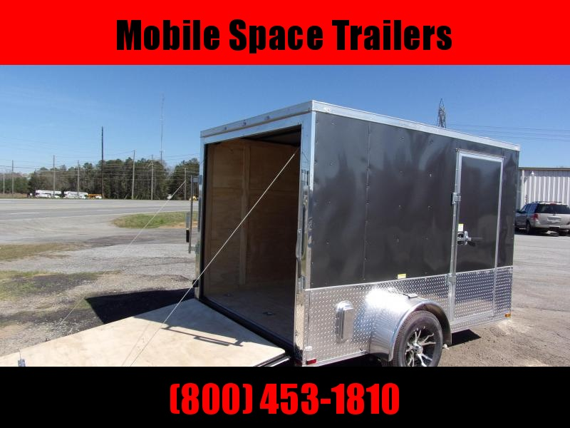 Liberty Cargo 7x10 MCP ramp door  Gray Enclosed Cargo Trailer