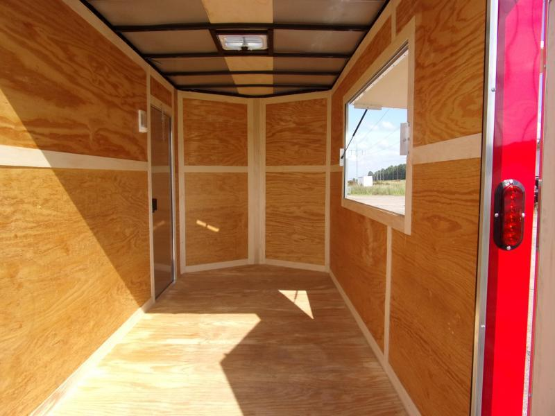 2019 EagleCargo Trailers 6x12 7' 3x6 Window Blue Enclosed Cargo Concesion
