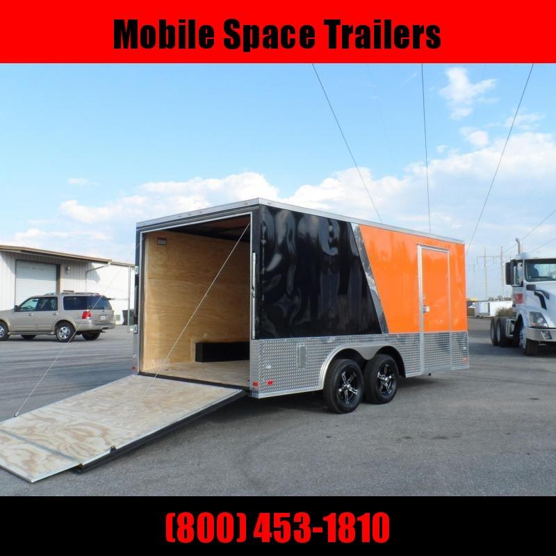 Covered Wagon Trailers 8.5x16 MCP Bk&Org slant ramp door Enclosed Cargo Trailer