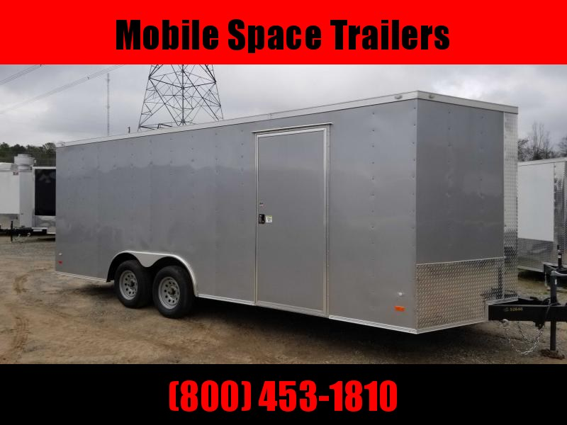 2020 Covered Wagon Trailers 8.5X20 silv Car Hauler Enclosed Cargo Trailer