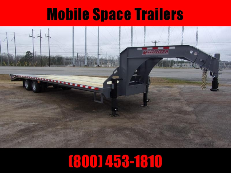 2020 Midsota 102x32 Gooseneck Equipment W/ HD Ramps Flatbed Trailer