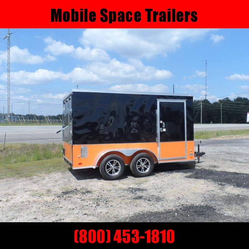 Covered Wagon Trailers 7x12 MCP Bk & Or ramp door Enclosed Cargo Trailer