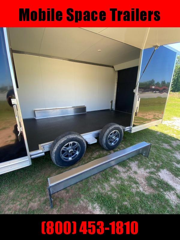 Mission 8.5x24 car hauler spread axle ramp door Elite Ecsape door