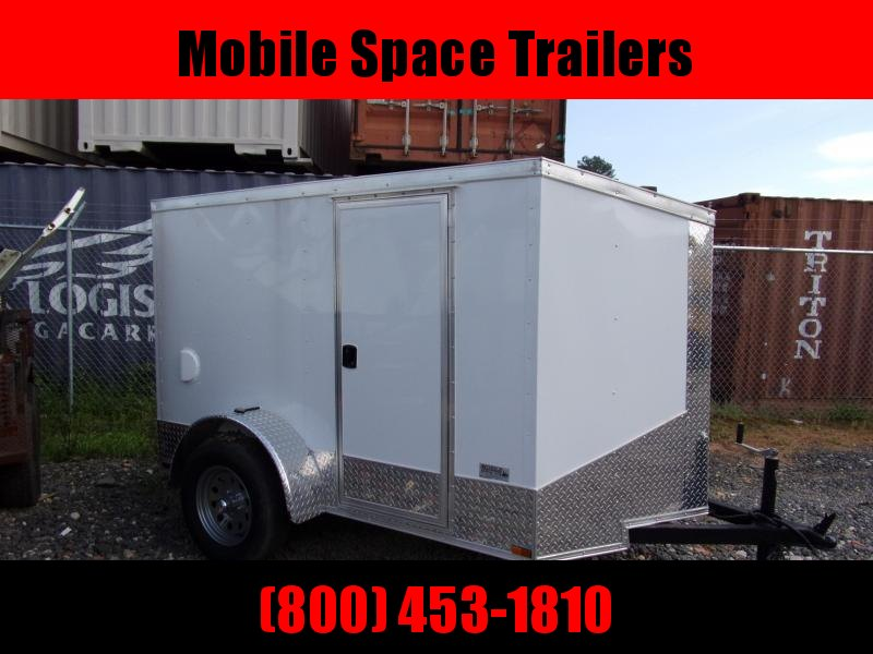 2019 Quality Cargo 5x8 Quest ramp door White Enclosed Cargo Trailer