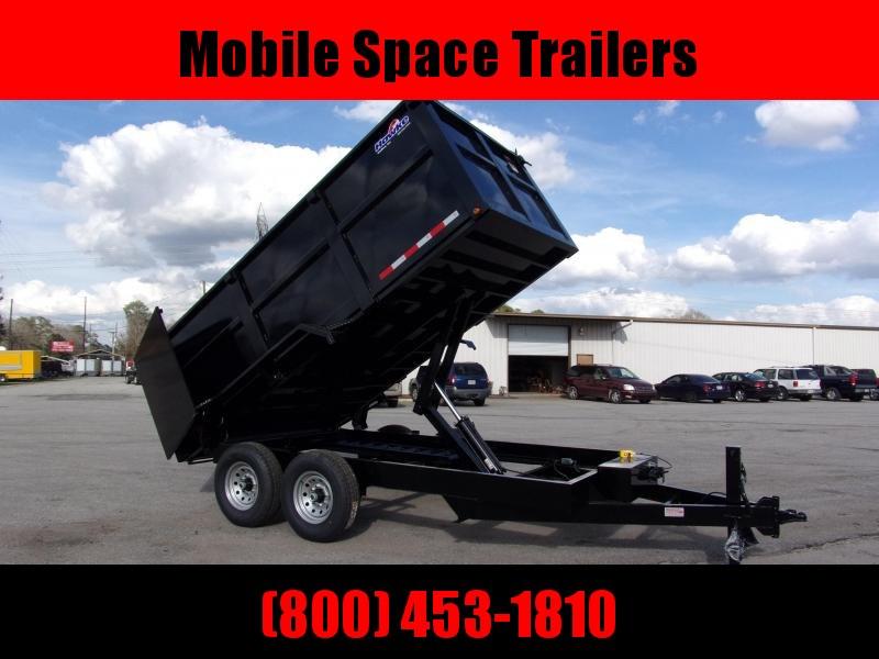 2019 Hawke 7x14 48 high side 14k Low Pro Dump Trailer w Tarp