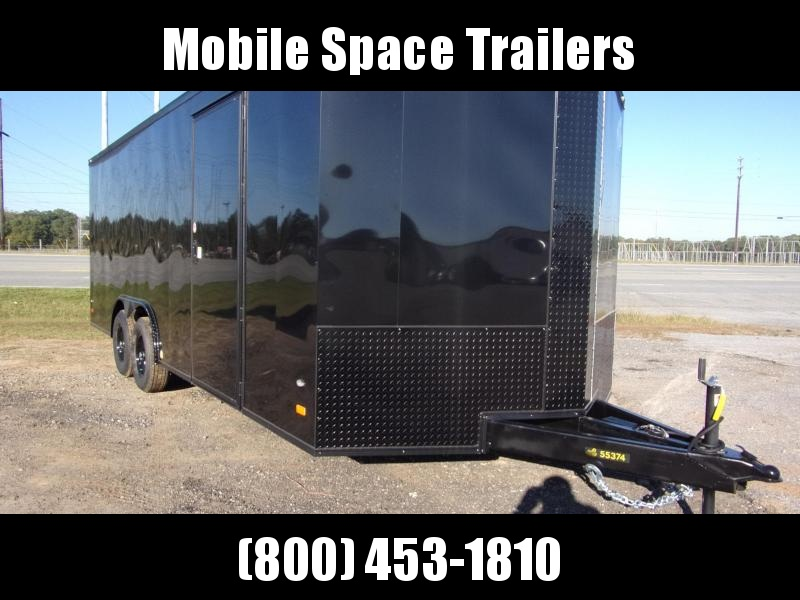 2020 Covered Wagon Trailers 8.5X20 Black 10K Blackout Screwless Carhauler Enclosed Cargo Trailer