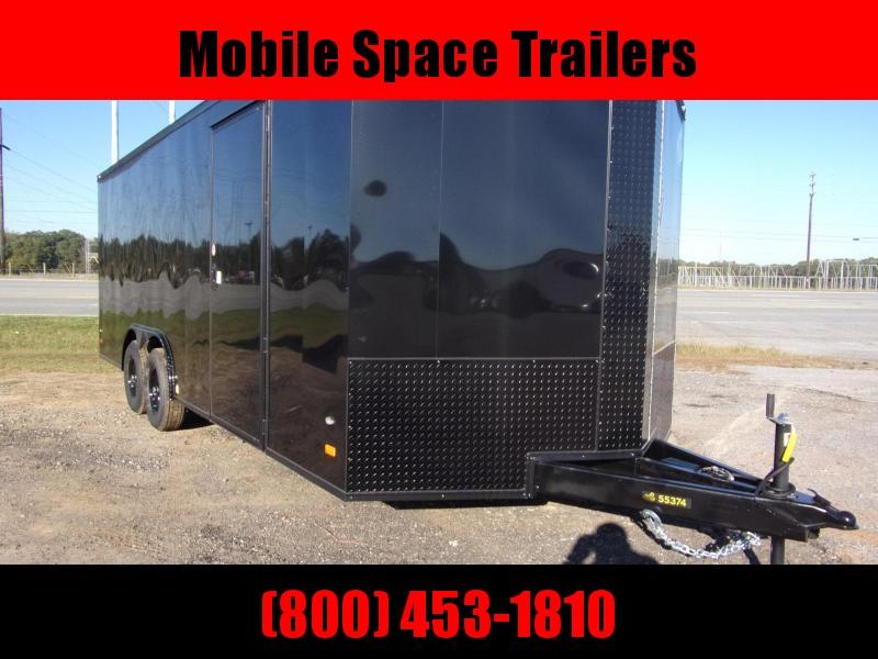 2020 Covered Wagon Trailers 8.5X20 Black 10K Blackout Screwless Carhauler Enclosed Cargo Trailer