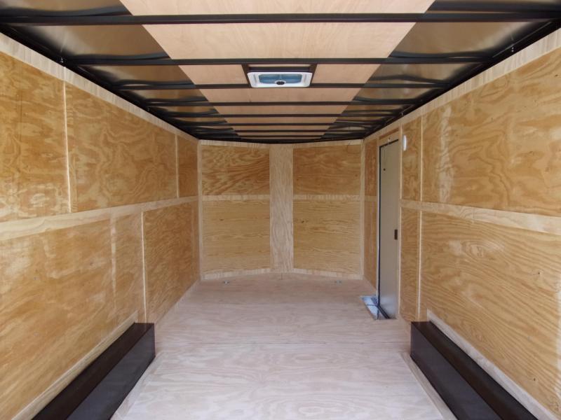 2020 Covered Wagon Trailers 8.5X20 Black 7K Blackout Semi-Screwless Carhauler Enclosed Cargo Trailer