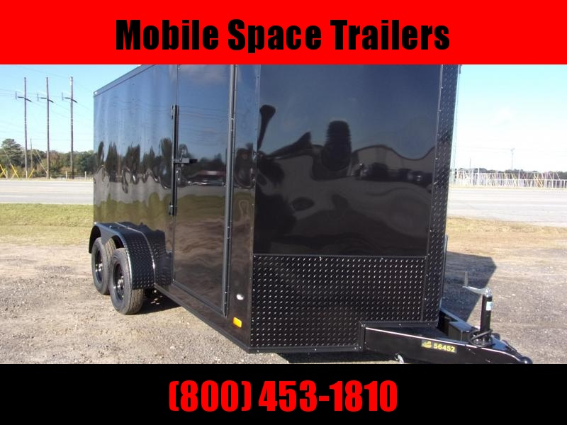 2020 Covered Wagon Trailers 7X14 7k Blackout Tandem Ramp Door Enclosed Cargo Trailer