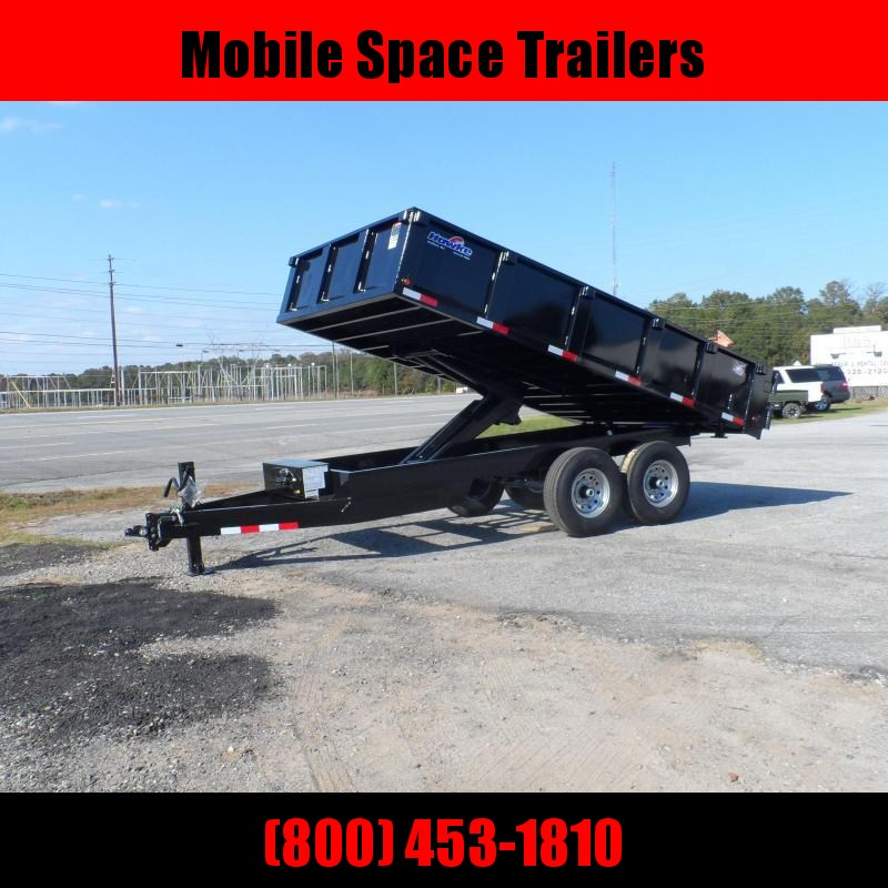 Hawke 8x14 24 high side 15k Deck Over Dump Trailer