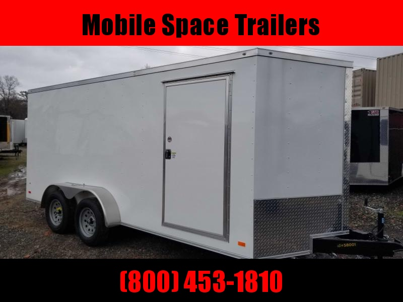 "Covered Wagon Trailers 7x16 Wh 6'3"" interior ramp door Enclosed Cargo Trailer"