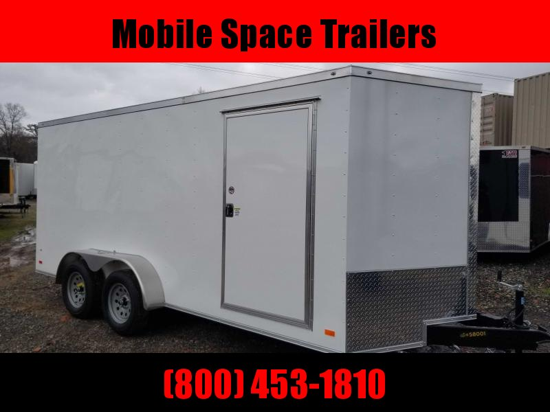 """Covered Wagon Trailers 7x16 Wh 6'3"""" interior ramp door Enclosed Cargo Trailer"""