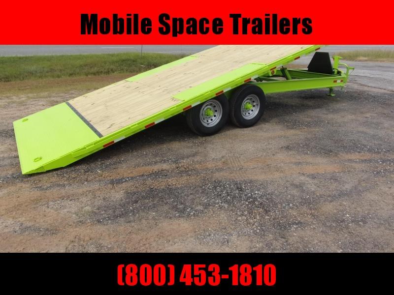 2019 Down 2 Earth Trailers 8x22 Lime Green tilt 14k Equipment Trailer