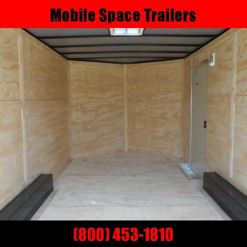 2019 Quality Cargo 8.5x16 7' Interior ramp door White Enclosed Cargo Trailer