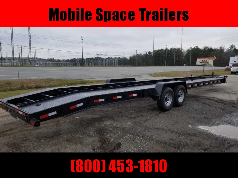 "Down To Earth 36 2 Car Hauler 10"" I Beam Alum rampss"
