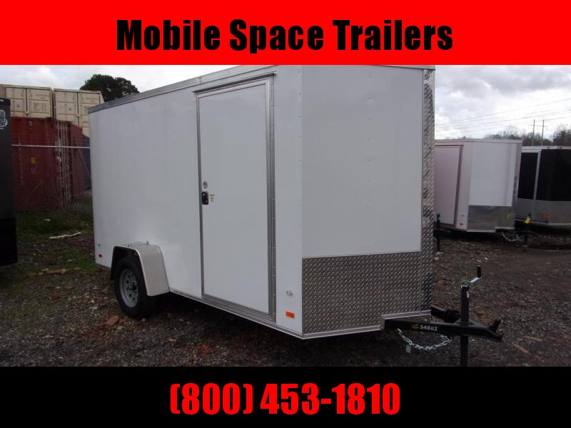 2020 Covered Wagon Trailers 6x12 Ramp door gold Series White Enclosed Cargo Trailer