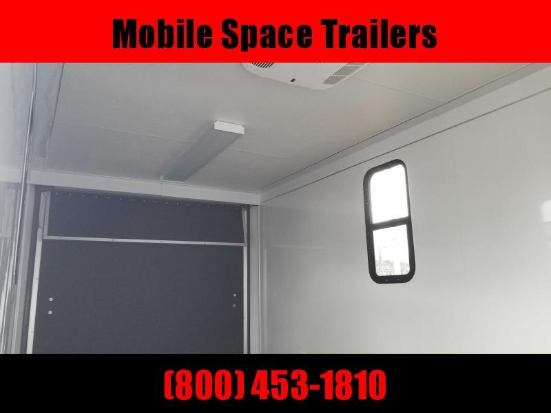 7x16 Finished AC Elec PKG ramp door Enclosed Cargo Trailer