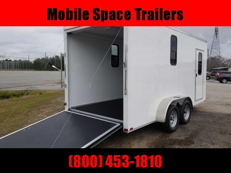 7x16 Finished AC Elec PKG ramp door Enclosed Cargo Trailer
