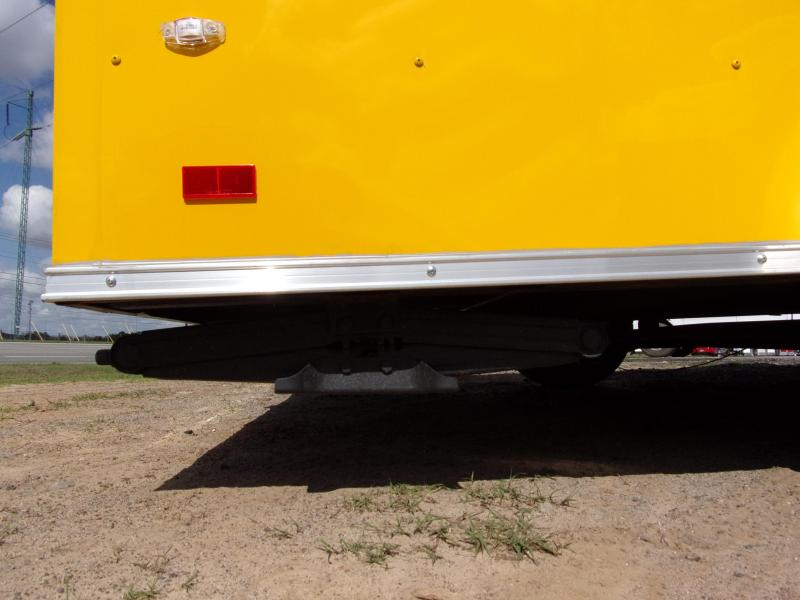 2019 Covered Wagon Trailers 7x12 7' 3x6 Window Yellow Vending Enclosed Cargo Concesion