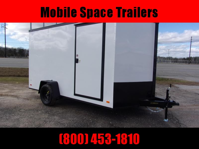 2020 Covered Wagon Trailers 7X12SA White Black-Out PKG Enclosed Cargo Trailer