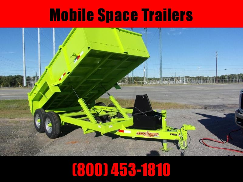 "Down 2 Earth Trailers 7x14 24"" high side 14k Dump Trailer"