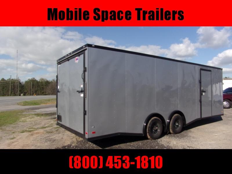Covered Wagon Trailers 8.5x24  Silver Spread axles ramp door Enclosed Cargo