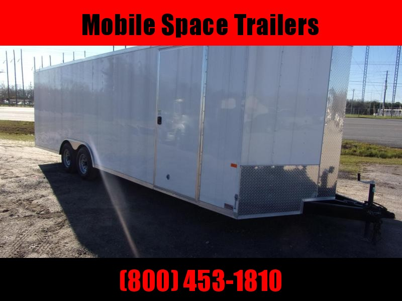 "Car Hauler Trailer 8.5"" Tandem Axle Enclosed Cargo Trailer"